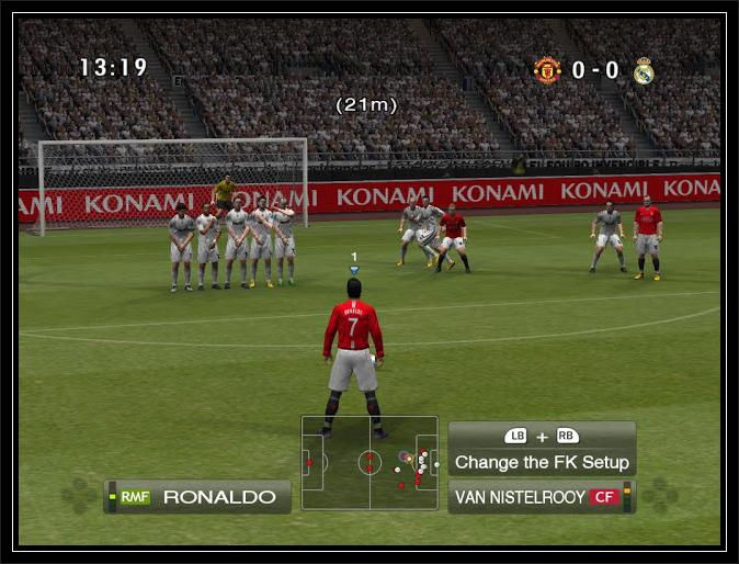 Pes 2009 game play screen 1