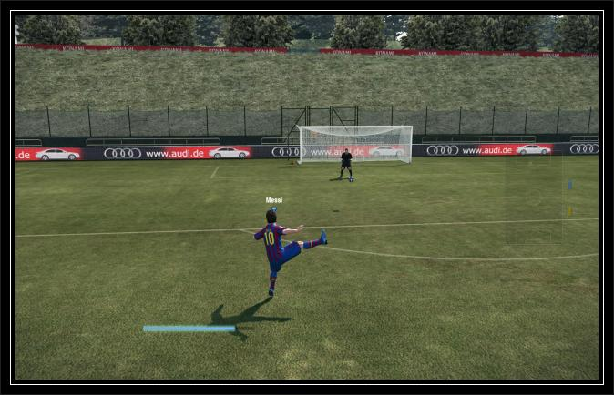 Pes 2010 game play shot 1